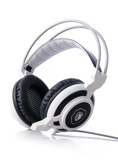 Armace Stereo Ses Işıklı Oyuncu Kulaklığı Beyaz-Platoon